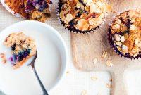 Blueberry and muesli muffins