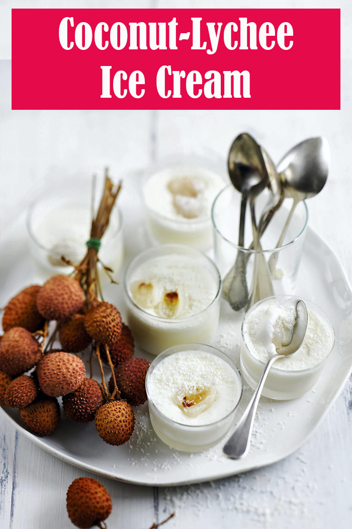 Coconut-Lychee Ice Cream