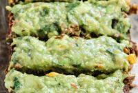 Delicious Meatless Black Bean Meatloaf with Creamy Avocado Verde Sauce