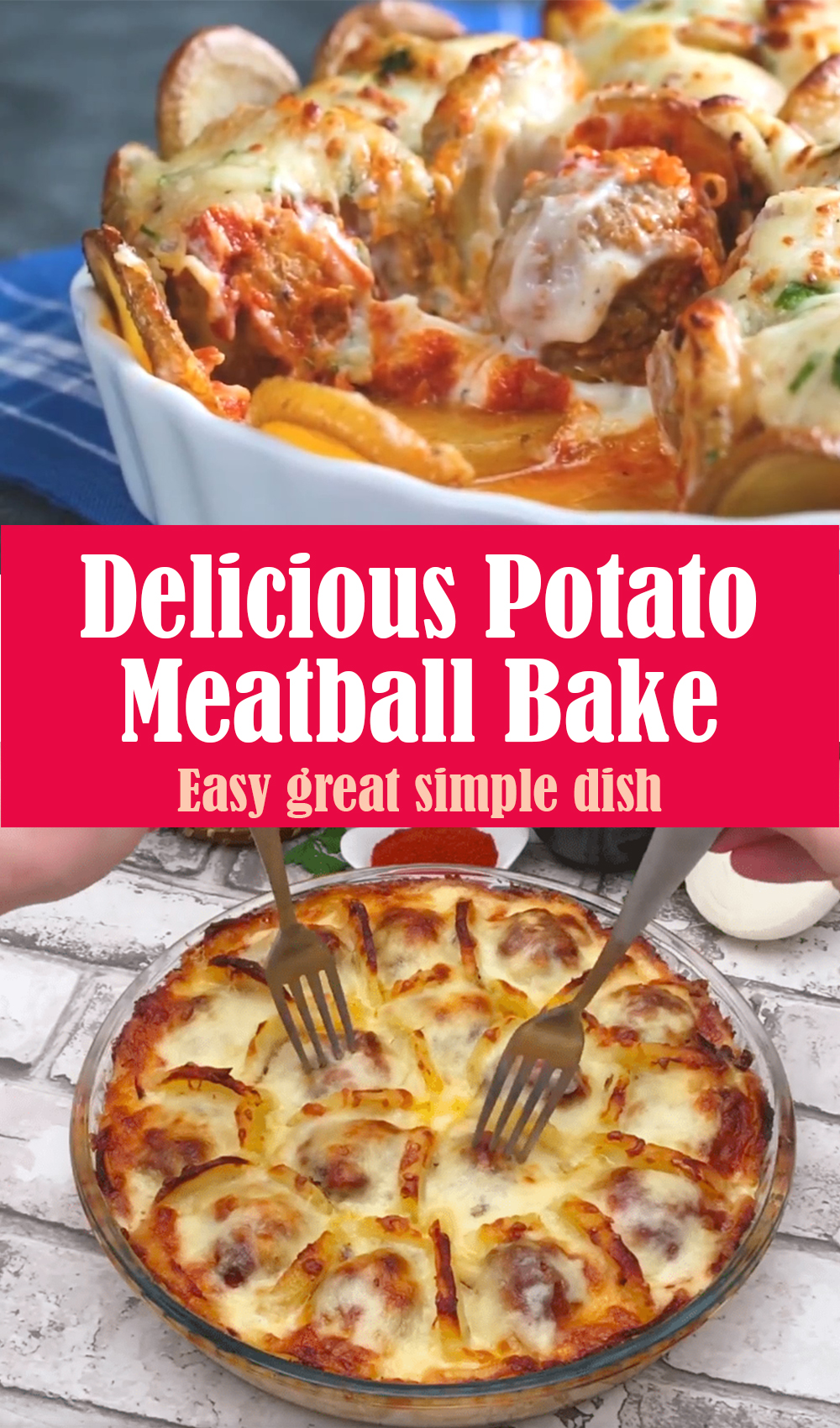 Delicious Potato Meatball Bake