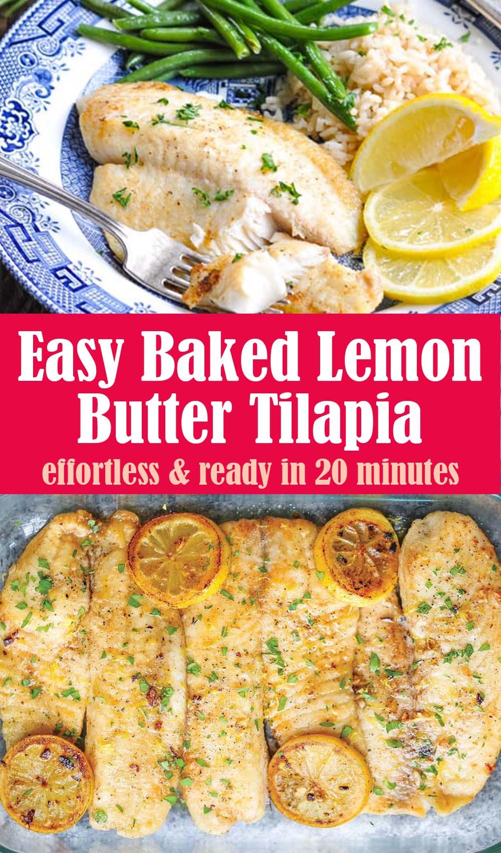 Easy Baked Lemon Butter Tilapia Recipe