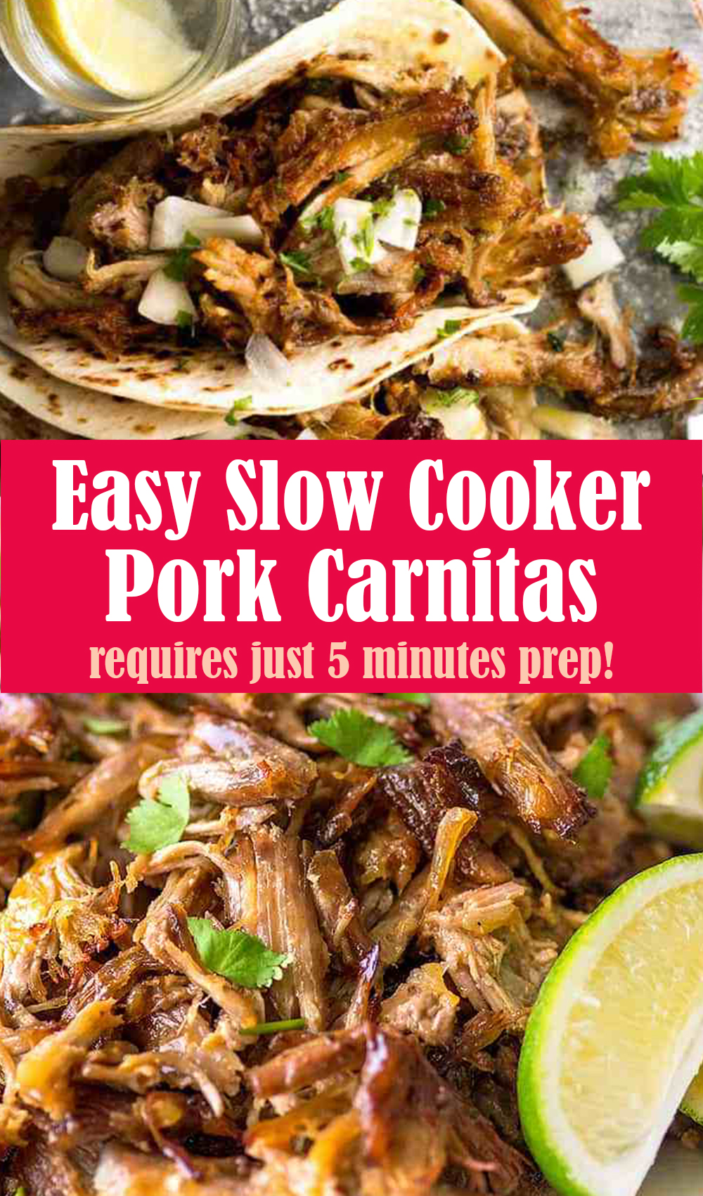 Easy Carnitas Recipe (Mexican Slow Cooker Pulled Pork)