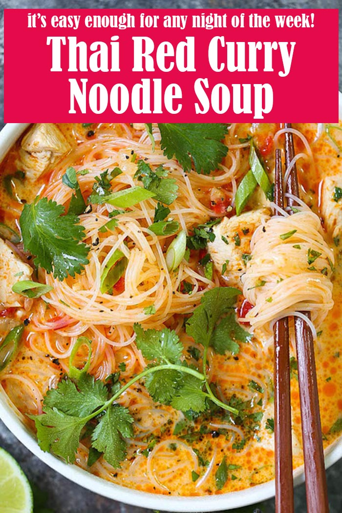 Easy Thai Red Curry Noodle Soup