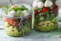 Pasta Salad and Green Asparagus