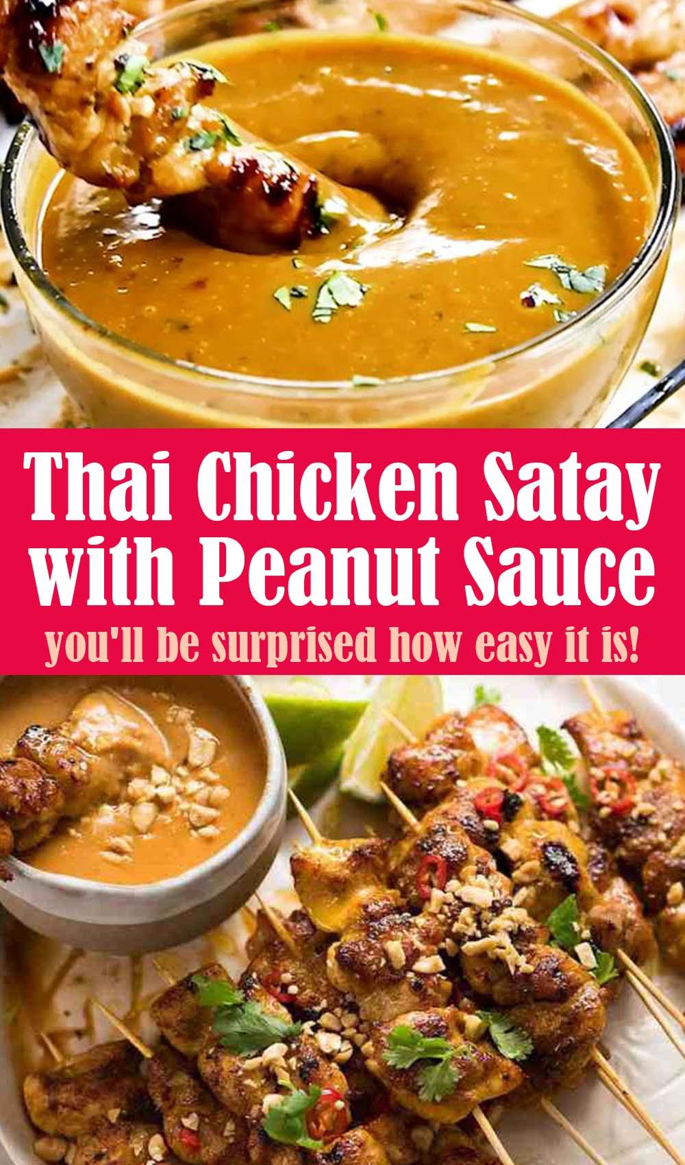 Thai Chicken Satay with Peanut Sauce Recipe